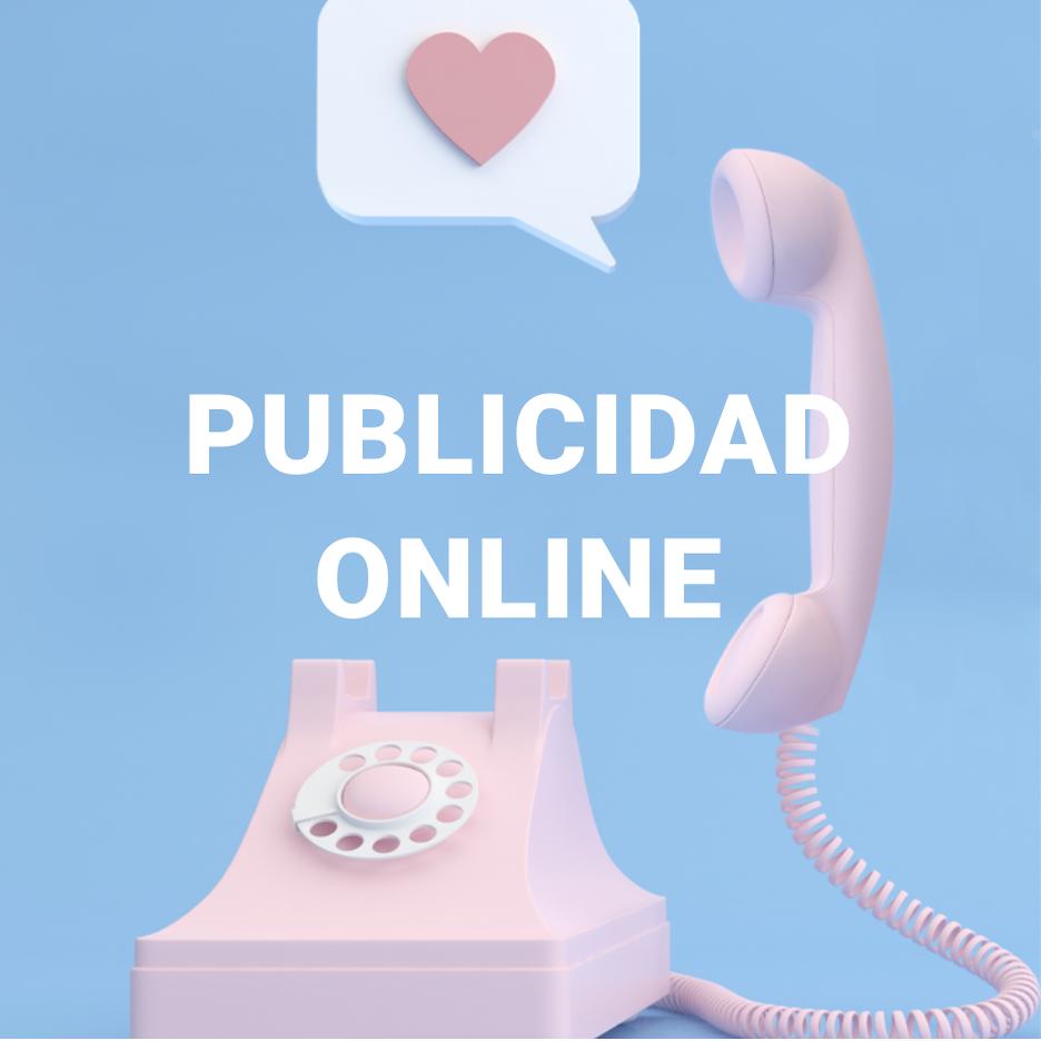 Teléfono rosa antiguo, haciendo referencia a la publicidad online